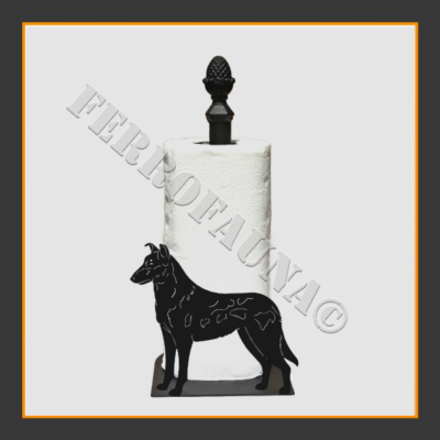Collie Smooth Kitchen Towel Holder