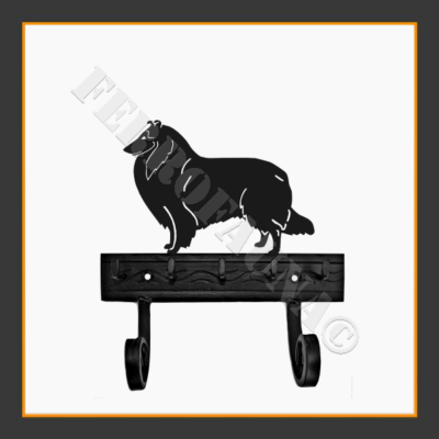 Collie Rough Key and Leash Holder