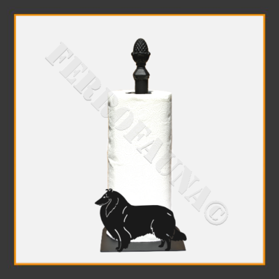 Collie Rough Kitchen Towel Holder