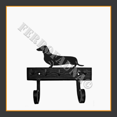 Dachshund Kurzhaar Key and Leash Holder