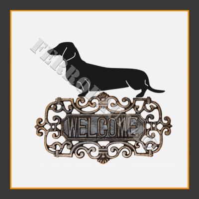 Dachshund Kurzhaar Welcome Sign
