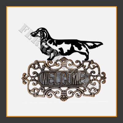 Dachshund Langhaar Welcome Sign