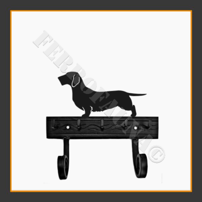 Dachshund Rauhhaar Key and Leash Holder