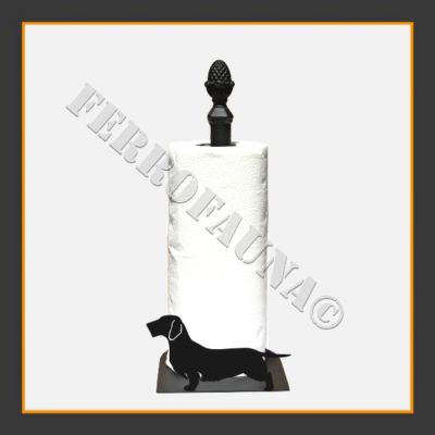 Dachshund Rauhhaar Kitchen Towel Holder
