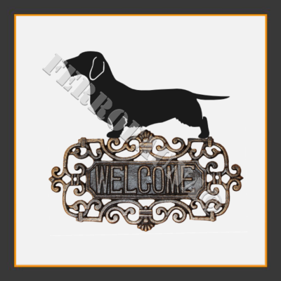 Dachshund Rauhhaar Welcome Sign