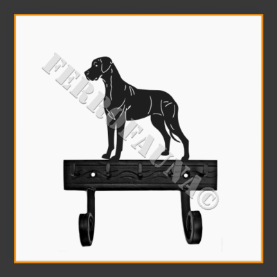Deutsche Dogge Key and Leash Holder
