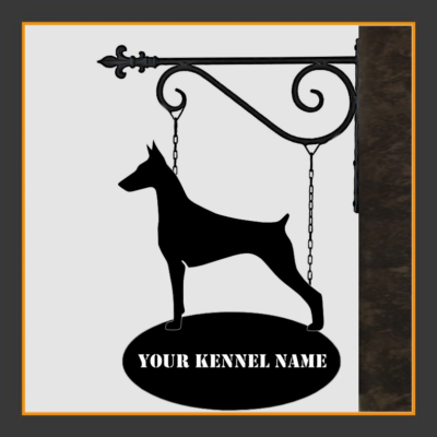 Dobermann Sign With Kennel Name