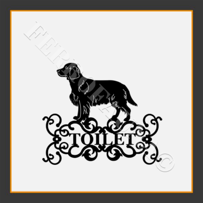 Welsh springer spaniel Toilet  Sign