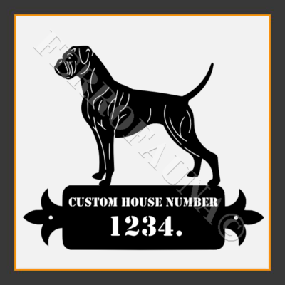 Boxer Custom House Number