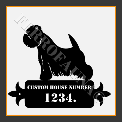 West Higland White Terrier Custom House Number