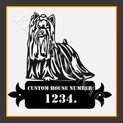 Custom House Number with any breed