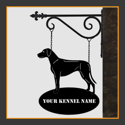 Rhodesian Ridgeback Sign With Kennel Name