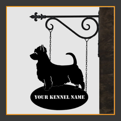Australian Silky Terrier Sign With Kennel Name