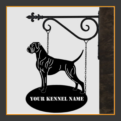 Boxer Sign With Kennel Name