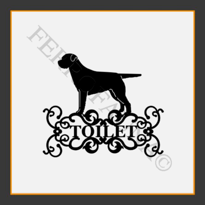 Border Terrier Toilet  Sign