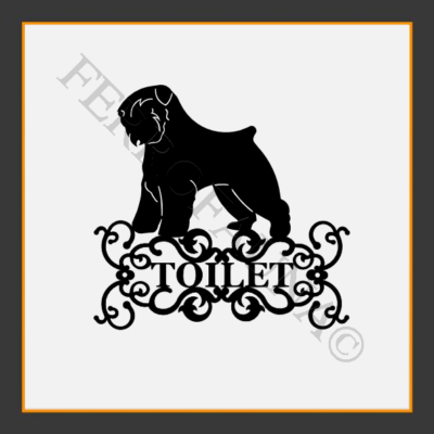 Bouvier Des Flandres Toilet  Sign
