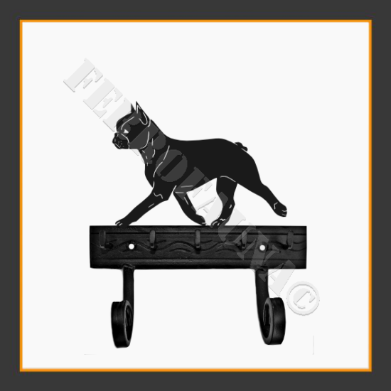Boston Terrier Key and Leash Holder