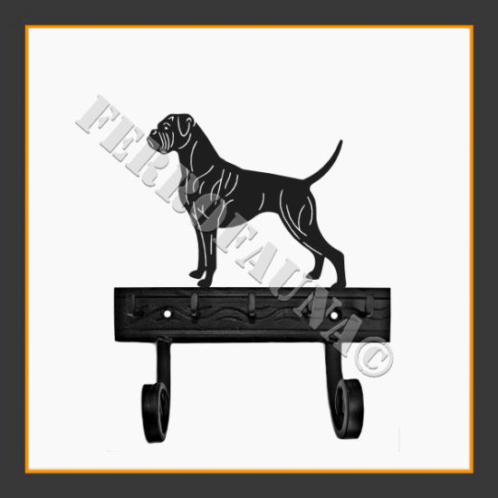 Boxer Key and Leash Holder