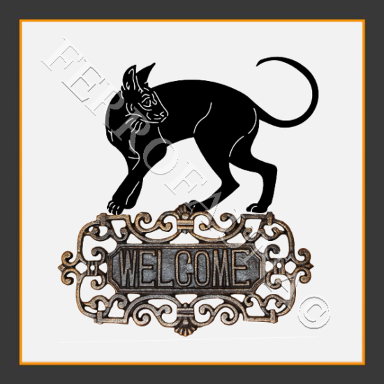 Cornish Rex Welcome Sign