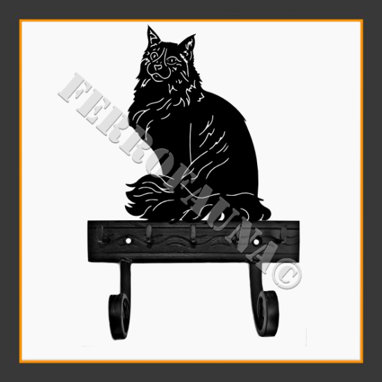 Maine Coon Key and Leash Holder