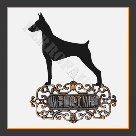 Dobermann Welcome Sign