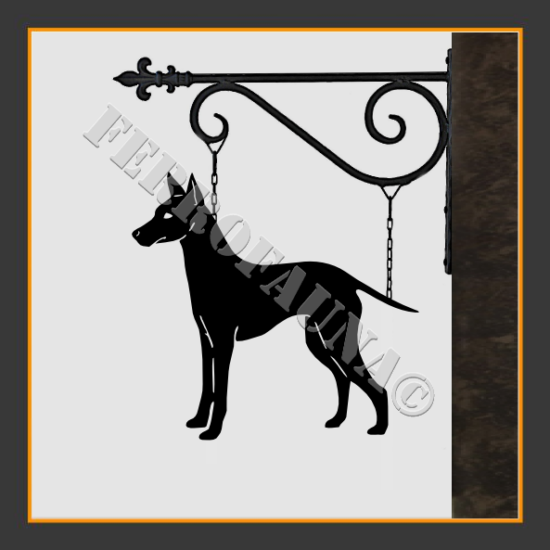 English Toy Terrier Sign