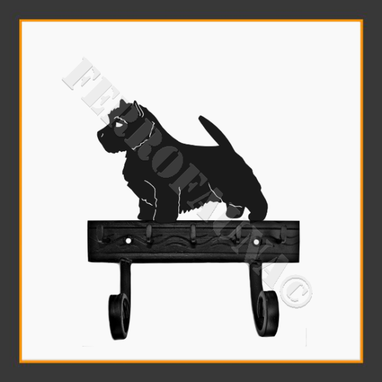 Norwich Terrier Key and Leash Holder