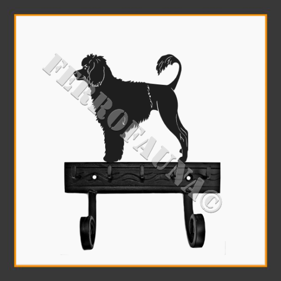 Portuguese Water Dog Key and Leash Holder