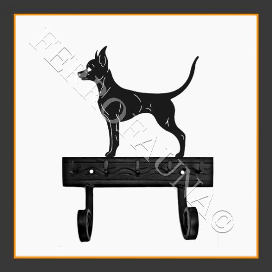 Russian Toy Terrier Smooth Key and Leash Holder