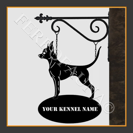 Russian Toy Terrier Smooth Sign With Kennel Name