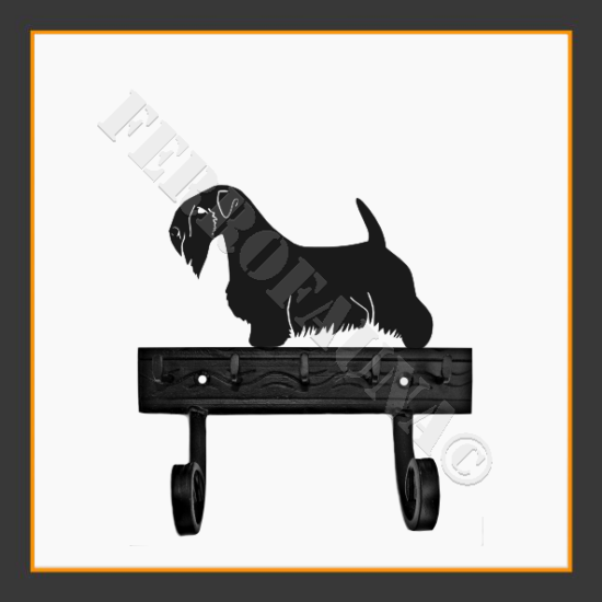 Sealyham Terrier Key and Leash Holder