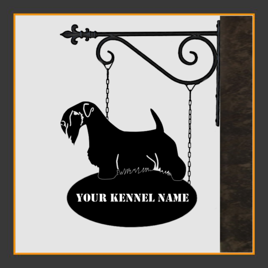 Sealyham Terrier Sign With Kennel Name