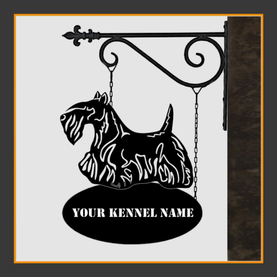 Scottish Terrier Sign With Kennel Name