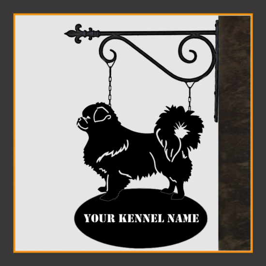 Tibetan Spaniel Sign With Kennel Name