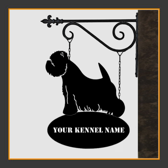 West Highland White Terrier Sign With Kennel Name