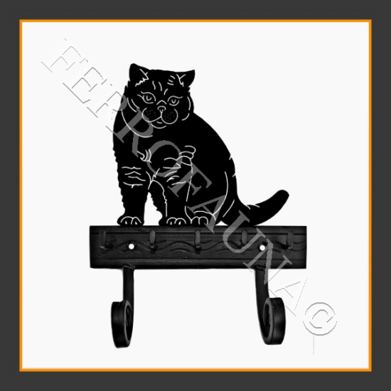 Brittish Shorthair Key and Leash Holder