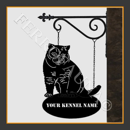 Brittish Shorthair Sign With Kennel Name