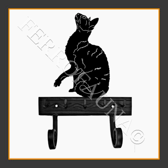 Devon Rex Key and Leash Holder