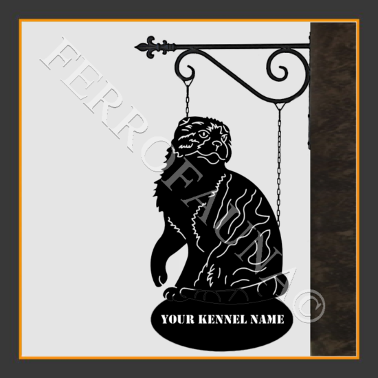 Scottish Fold Sign With Kennel Name