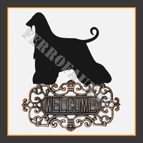 Afghan Hound v.1 WELCOME SIGN