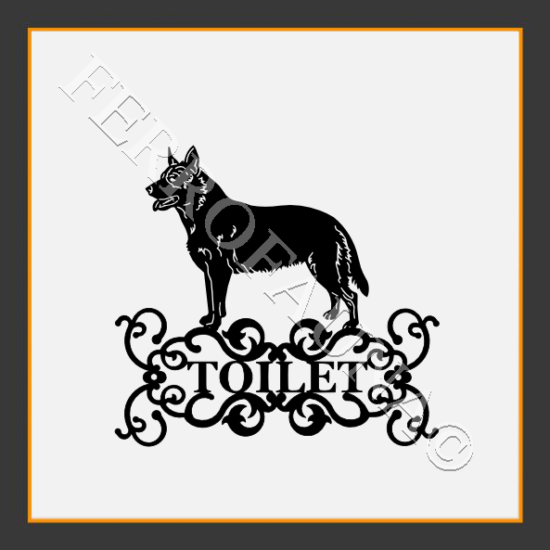 Australian Cattle Dog Toilet Sign