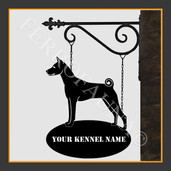 Basenji Sign With Kennel Name