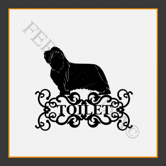 Bearded Collie Toilet  Sign