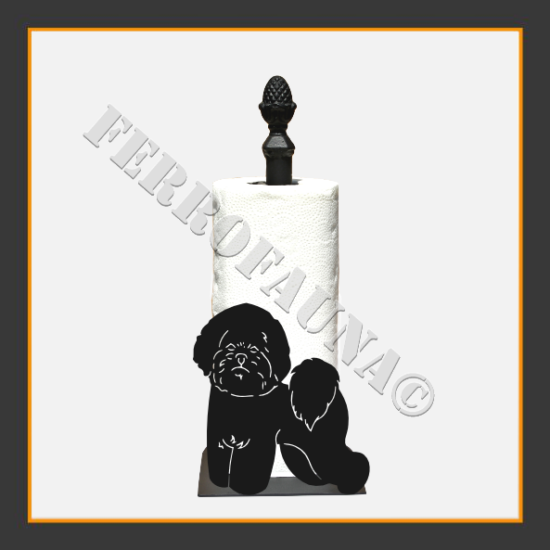 Bichon Frise Kitchen Towel Holder