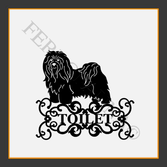 Bichon Havanese Toilet  Sign