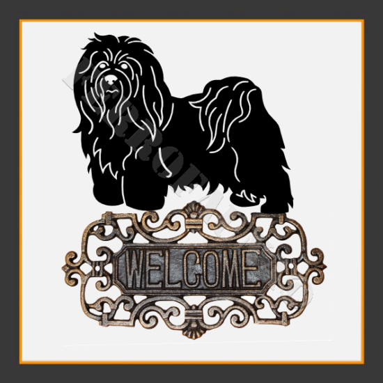 Bichon Havanese Welcome Sign