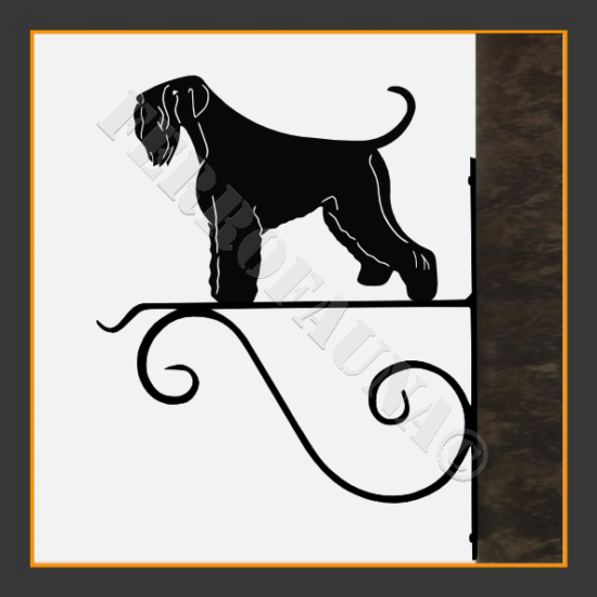 Black Russian Terrier Flower Holder