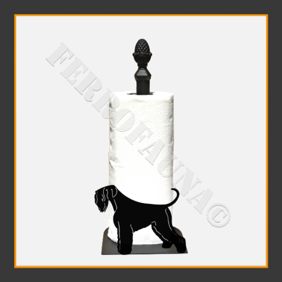 Black Russian Terrier Kitchen Towel Holder