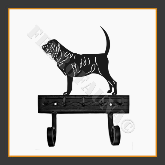 Bloodhound Key and Leash Holder