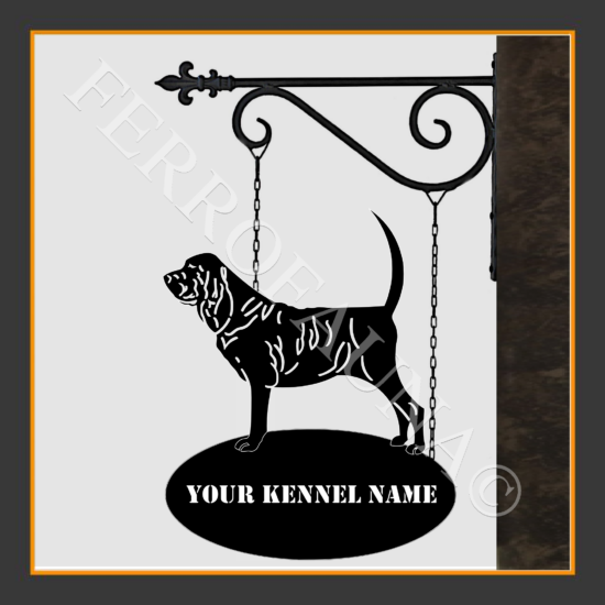 Bloodhound Sign With Kennel Name